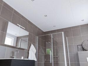 Plafondplaten kun je ook in de badkamer platen